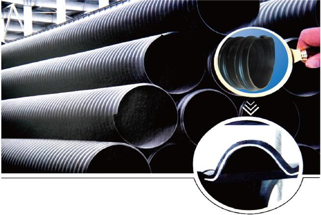 DN600钢带增强聚乙烯螺旋德州扑克下载排行榜结构图片