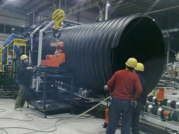 钢带增强聚乙烯螺旋波纹管厂区图片